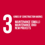 There are 3 kinds of construction works ...