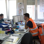 """Planning is vital. Inside the """"base camp"""", the actual situation on-site is constantly compared to the tight construction schedules"""