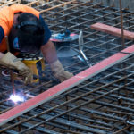 Welding works are among the daily tasks on-site