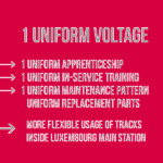 The electric conversion of railway line 50 towards a common power supply standard offers several advantages