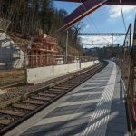 The platform for the passengers of the North Line heading towards Luxembourg City is ready.